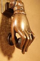 Interesting Bronze Door Knocker in the Shape of a Hand (4 of 8)