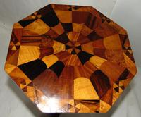 Regency Table with Inlaid Specimen Wood Top (2 of 7)