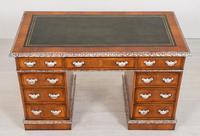 Superb Victorian Walnut 2 Pedestal Desk (5 of 10)
