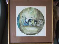 Joseph Kossonogi Artist's Proof Lithograph of Musicians Playing (2 of 4)