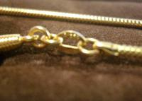 Vintage Pocket Watch Chain 1970s 12ct Gold Plated with Ornate Button Fob Nos (9 of 11)