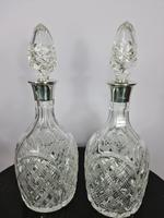Pair of Silver Collared Decanters by Mappin & Webb (4 of 7)