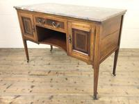 Edwardian Mahogany Sideboard with Marble Top (6 of 9)