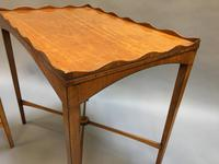 Pair of Edwardian Satinwood Occasional Tables (5 of 11)