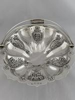 Edwardian Antique Silver Swing Handle Fruit Bowl / Basket 1905 Birmingham (10 of 12)