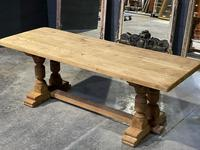 French Oak Refectory Farmhouse Dining Table (8 of 12)