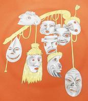 Rare Arrigo Finzi Art Pottery Surrealist Modernist Charger Salvador Dali 1940+ (3 of 7)