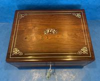 William IV Rosewood Box with Mother of Pearl Inlay (9 of 13)