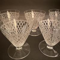 Five Art Deco Baccarat Etched Fine Crystal Glasses (2 of 3)