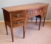 Antique Georgian Style Mahogany Shaped Front Sideboard (8 of 10)