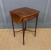 Inlaid Mahogany Flap Table