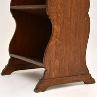 Antique Arts & Crafts Oak Open Bookcase (5 of 12)