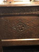 Carved Antique Coffer, English Oak Joined Chest, Trunk, c.1700 (3 of 8)