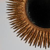 Superb Large Mid 20th Century French Giltwood Sunburst Mirror (4 of 4)