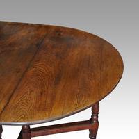 Large Antique Oak Gateleg Dining Table (6 of 13)