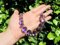 274.91ct Amethyst & 18ct Yellow Gold Rivière Necklace - Antique Victorian (2 of 12)