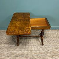 Quality Figured Walnut Victorian Antique Card Table / Games Table (5 of 9)