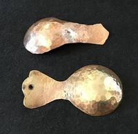 Arts and Crafts Planished Copper and Brass  Tea Caddy Spoons (3 of 3)