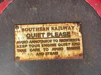 Large Heavy Rusted Cast Iron Railway Plaque Sign Train Notice (5 of 25)