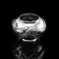 Antique Solid Silver Japanese Condiment Pot / Bowl - Meiji c.1900 (3 of 14)