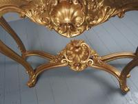 George II Style Marble Top Gilded Console Table (6 of 12)