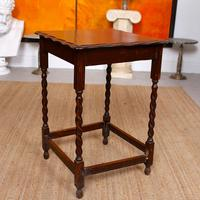 Oak Writing Table Arts & Crafts Side Table Edwardian Slim Petite (6 of 6)
