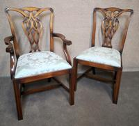 Set of Eight Mahogany Chippendale Style Chairs G.t.rackstraw - Droitwich (3 of 12)