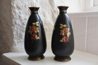 Pair of Crown Devon Lusterware Vases Decorated with Parrots (3 of 10)