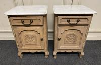 Pair of French Bleached Oak Bedside Cupboards (2 of 13)