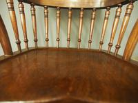 Set of 6 Red Walnut Captain's Chairs by W. Walker & Son (4 of 11)