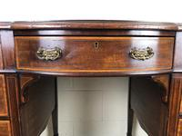 Edwardian Inlaid Mahogany Desk with Leather Top (8 of 11)