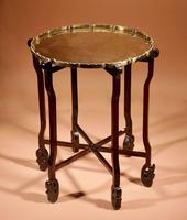 Elegant Chinese Harwood Folding Table c.1900
