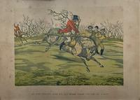 Set of Six 19thc Oak framed Humorous Coloured Sporting Hunting Engraving's (7 of 14)