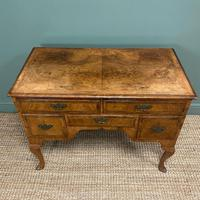 Spectacular 18th Century Figured Walnut Antique Lowboy / Side Table (4 of 5)