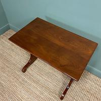 Victorian Mahogany Antique Stretcher Table / Sofa Table (3 of 4)