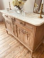 French Antique Oak Cupboard / Cabinet with Marble (8 of 10)