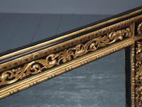 Antique Gilded & Ebonised Rectangular Wall Mirror (7 of 14)