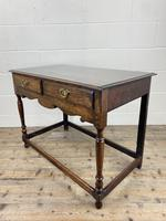 Antique Oak Two Drawer Side Table (12 of 14)