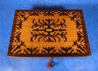 William IV Burr Maple & Rosewood Jewellery Box (11 of 12)
