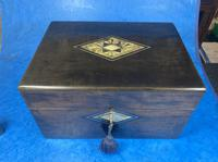 Victorian Ebonised Jewellery Box with Mother of Pearl & Abalone Inlay (11 of 18)
