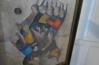 """Original Framed 1970s Print """"Ballon Players"""" by Graciela Rodo Boulanger (7 of 7)"""