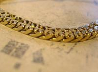 Antique Pocket Watch Chain 1930s Art Deco 12ct Gold Plated With Button Hole Fob (4 of 8)