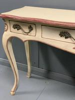 Large French painted console table with drawers (7 of 8)