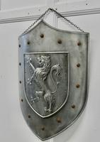 19th Century French Arts and Crafts Hand Made Curved Steel Shield (3 of 5)