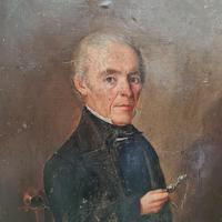 Naive French Oil Portrait 1858 (3 of 4)