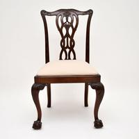 Set of 8 Antique Mahogany Chippendale Style Dining Chairs (10 of 12)
