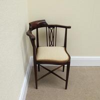 Mahogany Edwardian Corner Chair (2 of 4)