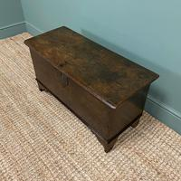 Small Period Oak Six Plank Antique Coffer (3 of 7)