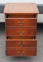 1960s Mahogany Small Filing Cabinet with Tan Leather Top (2 of 5)