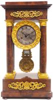 Fine Antique Flame Mahogany Mantel Clock French Striking Portico Mantle Clock (8 of 13)